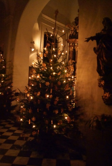 Traditional Austrian Christmas trees and decoration